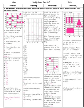 Grade 5 Weekly Math Homework
