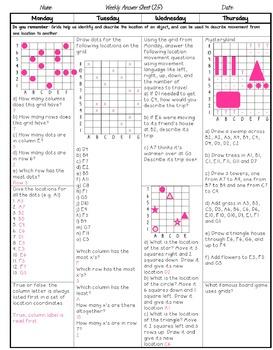 Grade 5 Weekly Math Homework Decimal Multiplication and Division