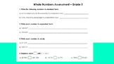 Grade 5 Whole Numbers Assessment