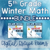 Grade 5 Winter Digital Escape Rooms Multiplication & Divis