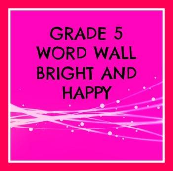Grade 5 Word Wall