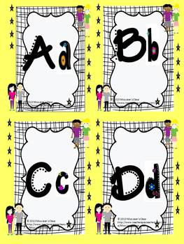 Grade 5 Word Wall Words - Cool Kids Theme