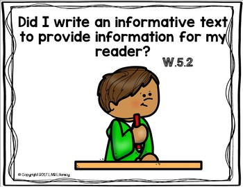 Common Core Standards Posters for Writing-Grade 5