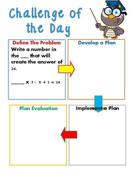 May Math Challenge No Prep Bell Work (Grade 5 and 6)