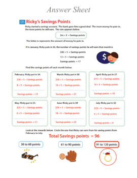 Grade 5 money for student - Show me the money - Printable material