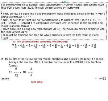 Grade 5 FRACTIONS UNIT 4: [Add/Subtract w/Mixed Nos]-4 worksheets, 7 quizzes