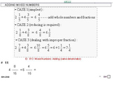 Grade 5 FRACTIONS UNIT 4: [Add/Subtract w/Mixed Nos]-4 wor