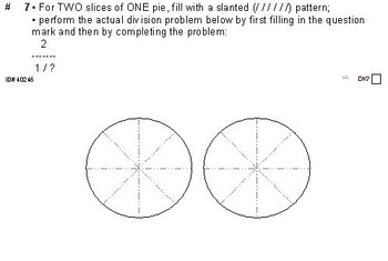 Grade 5 FRACTIONS UNIT 8: [Dividing w/whole nos.]-4 worksheets, 7 quizzes