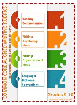 Grade 9-10: Teacher/Student Friendly Common Core/PARCC Aligned Writing Rubrics