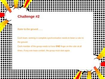 Grade 6 - 7's - Team building challenges