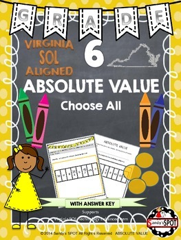 Grade 6 ABSOLUTE VALUE Virginia SOL TEST PREP