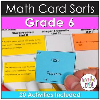 6th Grade Math Card Sort Activities & Assessments BUNDLE