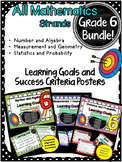 Yr 6 Maths Learning GOALS & Success Criteria posters. BUNDLED!