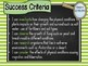 Grade 6 All SCIENCE Learning INTENTIONS/success criteria posters Aust Curric.
