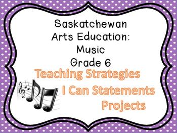 Grade 6 Music Saskatchewan Curriculum