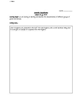 Grade 6 science worksheets biodiversity