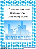 Grade 6 Box and Whisker Plot Matching Game