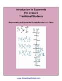Grade 6, CCS: Exploring Exponents for Traditional Students
