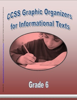 Grade 6 CCSS Graphic Organizers for Informational Texts