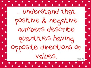 Grade 6 CCSS Math I Can Statements