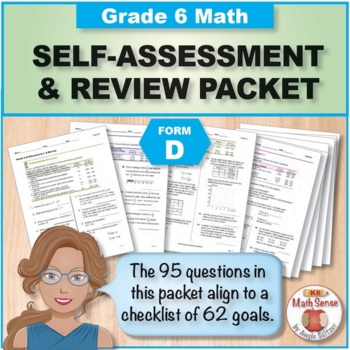 Grade 6 CCSS Math Self-Assessment and Review Packet ~ Form C