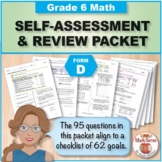Grade 6 CCSS Math Self-Assessment and Review Packet ~ Form D