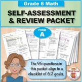 Grade 6 CCSS Math Self-Assessment and Review Packet ~ Form A