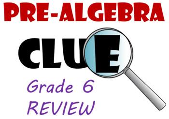 Grade 6 Clue Review Game Bundle