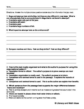 Grade 6 Common Core Assessments: Text Complexity 6.10