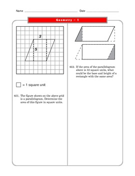 Grade 6 Common Core: Geometry Math Worksheet 1.4