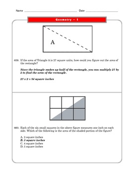 Grade 6 Common Core: Geometry Math Worksheet 1.7