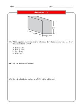 Grade 6 Common Core: Geometry Math Worksheet 2.1