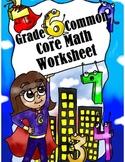 Grade 6 Common Core: Geometry Math Worksheet 2.2