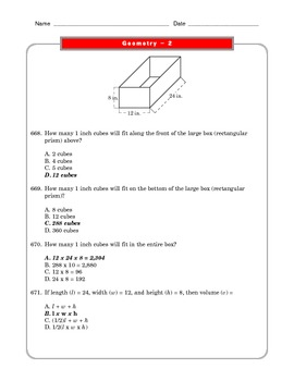 Grade 6 Common Core: Geometry Math Worksheet 2.2