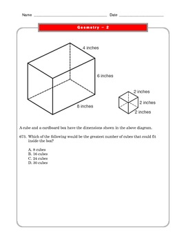 Grade 6 Common Core: Geometry Math Worksheet 2.3