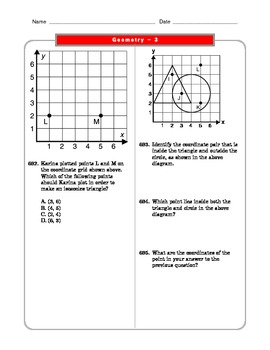 Grade 6 Common Core: Geometry Math Worksheet 3.3