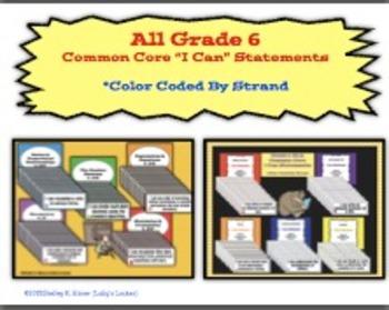 Grade 6 Common Core I Can Statement Bundle
