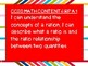 """Grade 6 Common Core """"I Can"""" Statement Learning Goal Posters"""