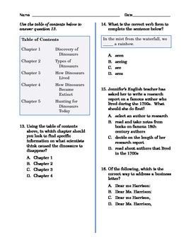 Grade 6 Common Core Language and Writing Practice
