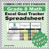 Grade 8 Common Core Math EXCEL Goal Tracker Spreadsheet wi