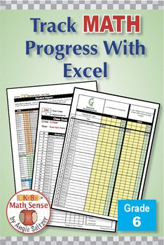 Grade 6 Common Core Math EXCEL Goal Tracker Spreadsheet with Paper Trail