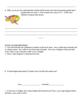 Grade 6 Common Core Math Module 1 Lessons 1-8 Quiz Review