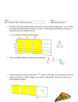 Grade 6 Common Core Math Module 2 Lessons 1-11  Mid Module Review