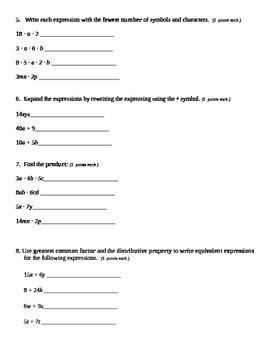 Grade 6 Common Core Math Module 4 Mid Module Assessment