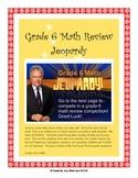 Grade 6 Common Core Math Review JEOPARDY - Smart Board Game