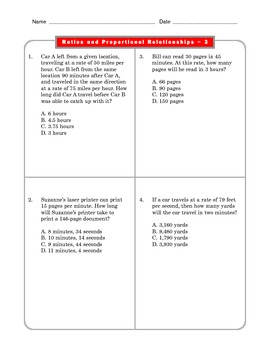 Grade 6 Common Core: Ratios and Proportions Math Worksheet 3.1