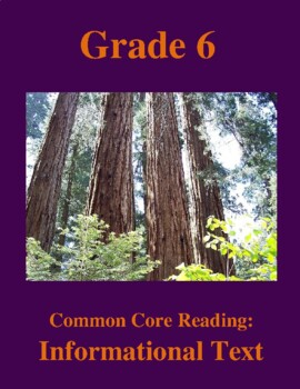 Grade 6 Common Core Reading: Informational Text -- The World's Tallest Trees