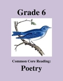 Grade 6 Common Core Reading: Poetry Bundle