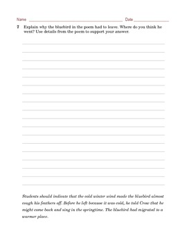Grade 6 Common Core Reading: Poetry - Robert Frost's The Last Word of a Bluebird