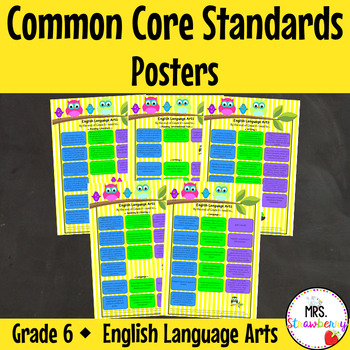 Grade 6 Common Core Standards Posters {English Language Ar